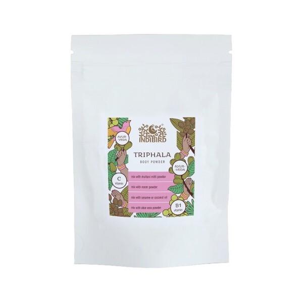 Трипхала порошок, Индиберд (Трифала, Triphala Powder, Indibird) 100 гр