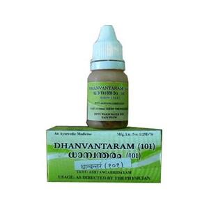 Дханвантарам тайла 101, Арья Вайдья Сала (Dhanvantaram thailam 101, Arya Vaidya Sala) 10 мл