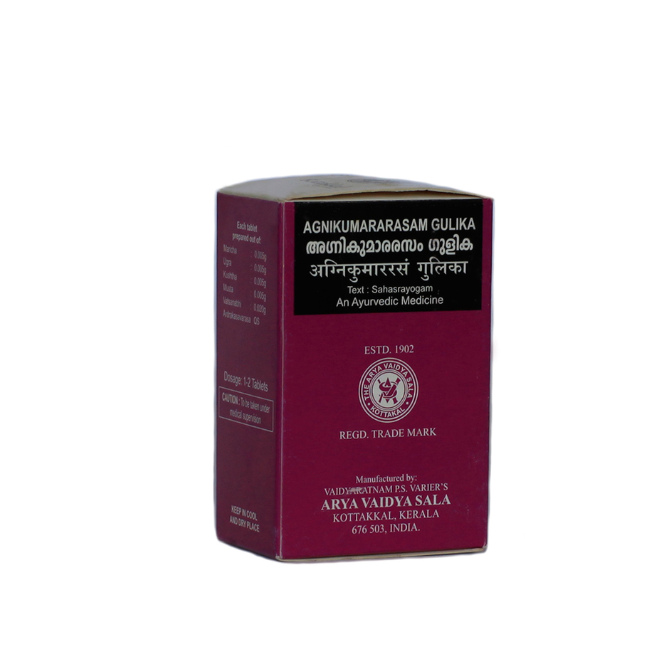 Агникумарарасам гулика, Арья Вайдья Сала (Agnikumararasam Gulika, Arya Vaidya Sala) 100 капс
