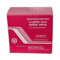 Махатиктакам кватам, Арья Вайдья Сала (Mahatiktam Kwatham, Arya Vaidya Sala), 100 табл