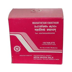 Махатиктакам кватам, Арья Вайдья Шала (Mahatiktam Kwatham, Arya Vaidya Sala), 100 табл