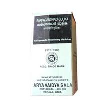 Сарпагандхади гулика, Арья Вайдья Сала (Sarpagandhadi gulika, Arya Vaidya Sala) 100 табл
