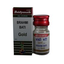 Брахми вати сварна юкта с золотом (Brahmi vati swarna yukta with gold, Baidyanath), 25 табл