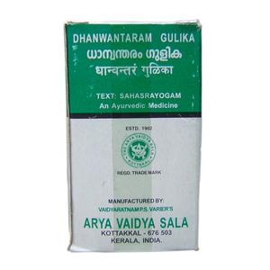 Дханвантарам гулика, Арья Вайдья Сала (Dhanwantharam gulika, Arya Vaidya Sala), 100 табл