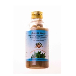 Динеса Элади на основе кокосового масла, Арья Вайдья Фармаси (Dinesa Eladi Coconut Oil, Arya Vaidya Pharmacy) 200 мл
