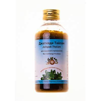 Джатияди тайлам, Арья Вайья Фармаси (Джатьяди, Jathyadi thailam Arya Vaidya Pharmacy), 200 мл