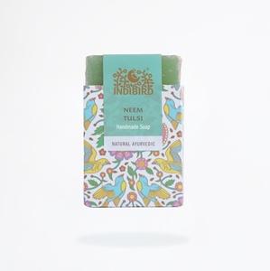 Аюрведическое мыло Ним и Тулси, ИндиБерд (Ayurvedic Handmade Soap Neem & Tulsi, IndiBird) 100 гр