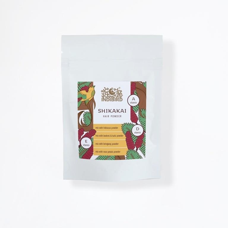 Порошок-маска для волос Шикакай, Индиберд (Shikakai, Indibird) 50 гр