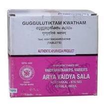 Гуггулутиктака кватам, Арья Вайдья Сала (Gulguluthikthakam kwatham, Arya Vaidya Sala) 100 табл