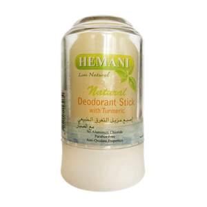 Дезодорант Алунит, натуральные квасцы c Куркумой, Хемани (Hemani Natural Deodorant Stick) 70 гр