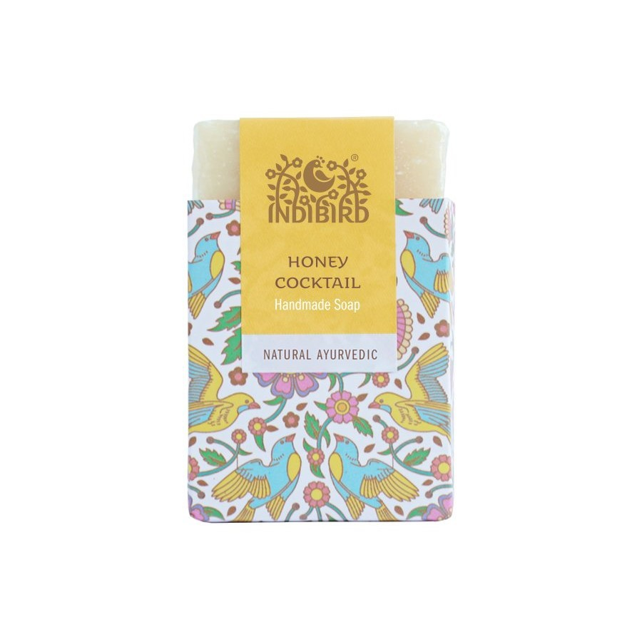 Аюрведическое мыло Медовый коктейль, ИндиБерд (Honey Cocktail Ayurvedic Soap, IndiBird) 100 гр