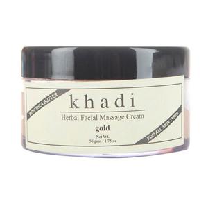 Массажный крем для лица с золотом и маслом ши Khadi Gold, 50 гр