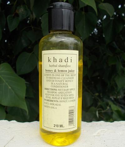 Шампунь Мед и Лемон, Кхади (Honey & Lemon, Khadi) 210 мл