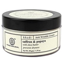 Крем для лица против старения Шафран и Папайя, Кхади (Herbal Anti Aging Cream Saffron & Papaya, Khadi), 50 мл