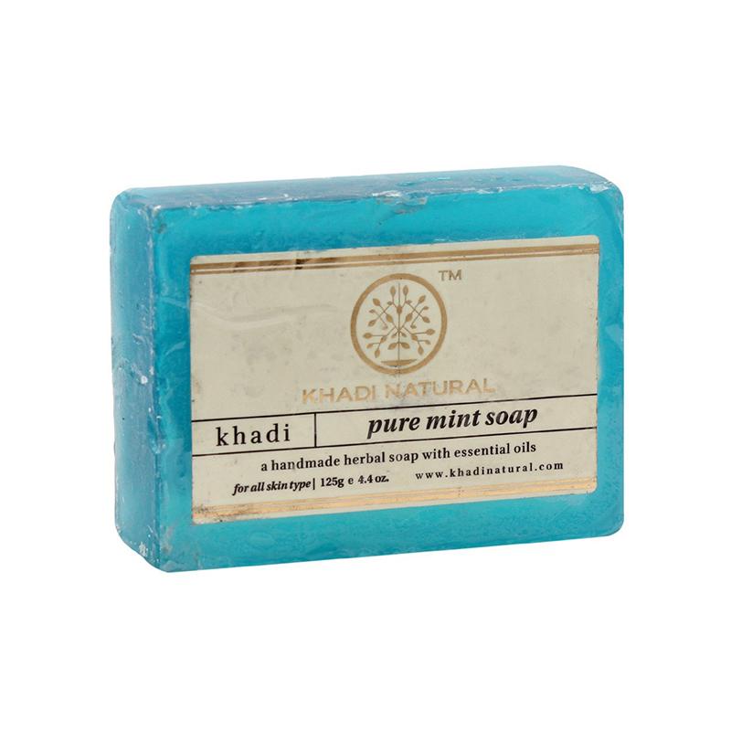 Мыло Чистая мята, Кхади (Pure mint soap, Khadi Natural), 125 гр