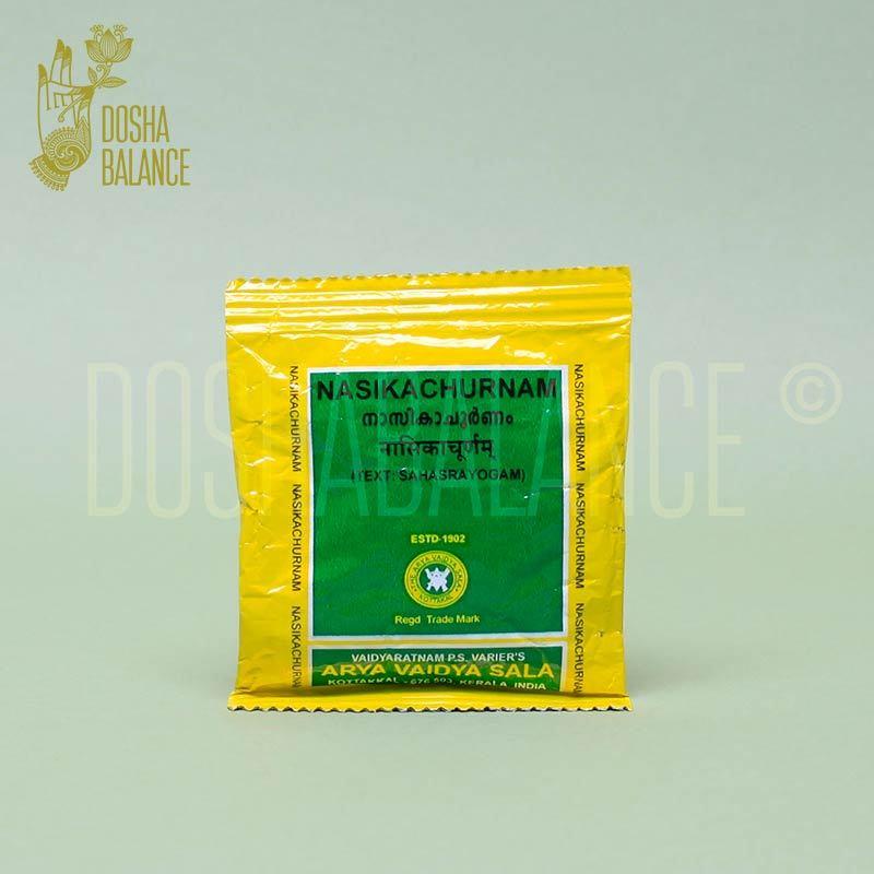 Насика чурнам, Арья Вайдья Шала (Nasika churnam, Arya Vaidya Sala), назальный порошок, 10 гр