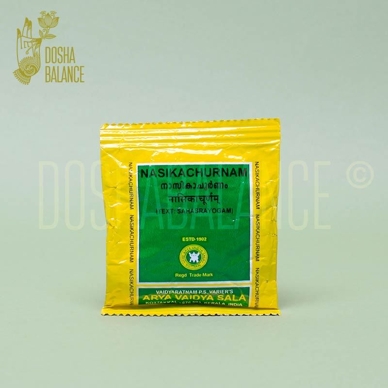 Насика чурнам, Арья Вайдья Сала (Nasika churnam, Arya Vaidya Sala), назальный порошок, 10 гр