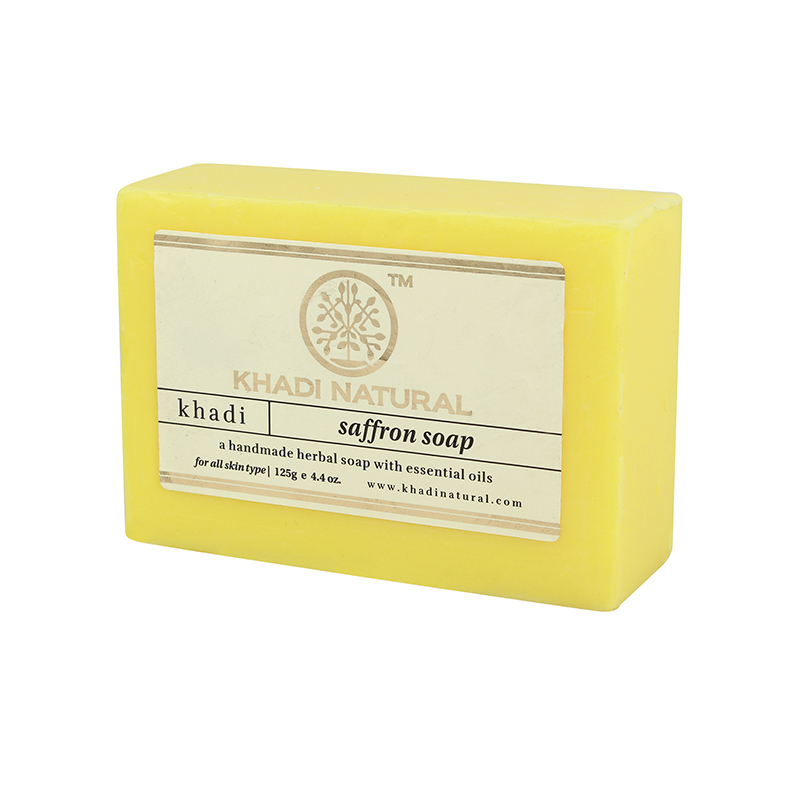 Мыло Шафран, Кхади (Saffron soap, Khadi Natural), 125 гр