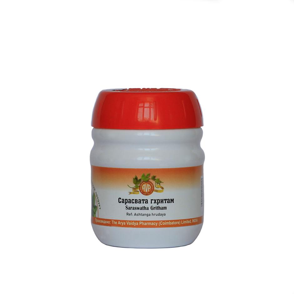 Сарасвата Гхритам, Арья Вайдья Фармаси (Saraswatha Gritham, Arya Vaidya Pharmacy), 150 гр