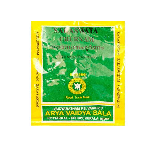 Сарасвата чурна, Арья Вайдья Шала (Сарасвати, Saraswata churnam, Arya Vaidya Sala), 10 гр срок годности до 10.18