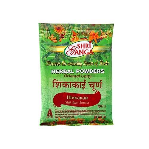 Порошок-маска для волос Шикакай, Шри Ганга (Shikakai, Shri Ganga) 100 гр
