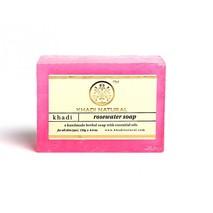 Мыло Розовая вода, Кхади (Rose water soap, Khadi Natural), 125 гр